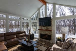 Colorado Style Sunroom Madison WI Interior 5