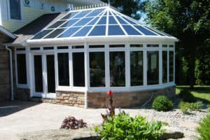 Kool View Sunroom with Tinted Windows Exterior 4