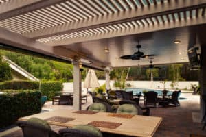 Pergola with Ceiling Fan Madison WI